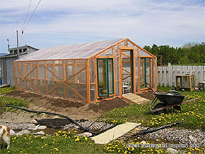 Garden Greenhouse - DIY Greenhouse - Backyard Greenhouse - Wood Greenhouse