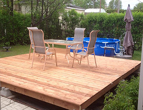 Floating deck