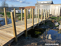 Cheap Backyard Bridge - DIY Backyard Bridge - Pond Bridge - Water garden Bridge