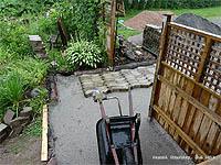 DIY Entrance Walkway Paver - Laying paver
